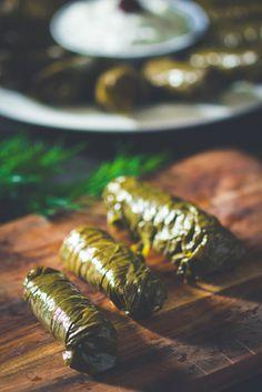 nice Dolmadakia - Greek-style Stuffed Vine Leaves - The Nude Food Hero Lebanese Recipes, Greek Recipes, Vegan Recipes, Soup Starter, Vegan Greek, Stuffed Grape Leaves, Greek Dishes, Side Dishes, Mediterranean Dishes