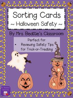 Halloween Trick-Or-Treating Safety Sorting Cards FREEBIE from Mrs. Beattie's Classroom!