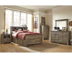 Full Size Bedroom Set B446STG-FBS Trinell, Furniture Factory Direct Full Size Bedroom Sets