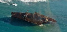Wreck of the S.S. America.