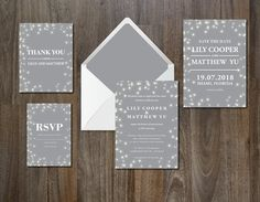 Wedding Invitation Suite Dreamy by aticnomar on @creativemarket