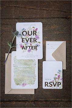 pink and purple invitation suite /weddingchicks/