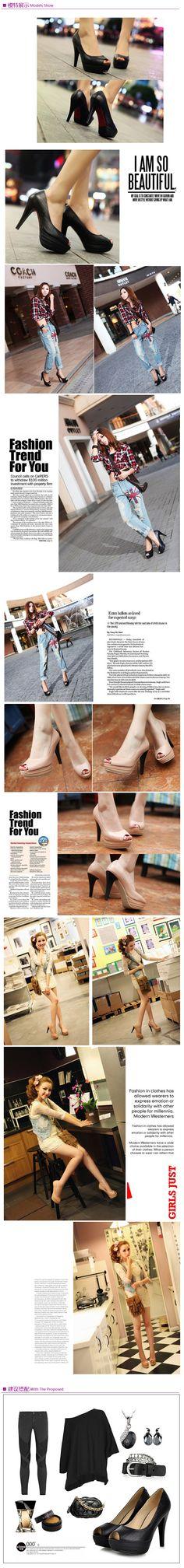 Fish head sandals pin thin heels