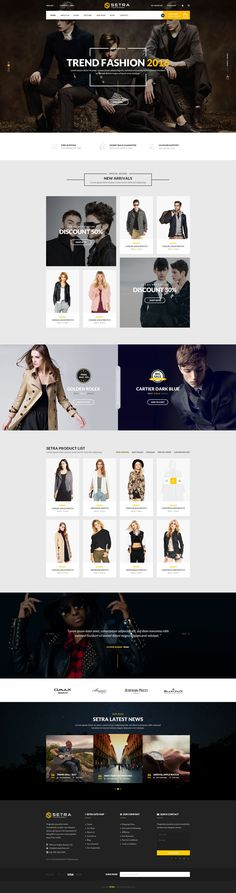 Setra Stunning 3 in 1 eCommerce PSD Template #fashionshop #website