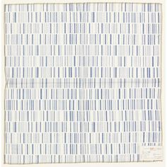Lines - 1952 - Rows of narrow and wider lines, printed on medium blue on white.