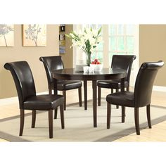 Dark Espresso Veneer Top 48-inch Dining Table   Overstock.com Shopping - Great Deals on Dining Tables