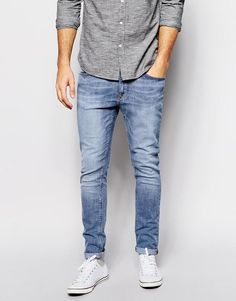 New Look | New Look Skinny Jeans In Light Wash at ASOS