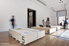 Image 5 of 9 from gallery of Overlappings: Young Portuguese Architects Exhibition at the RIBA Gallery. Exhibition Display, Museum Exhibition, Temporary Architecture, Interior Architecture, Studios, Museum Displays, Boutique Design, Minimalism, Gallery