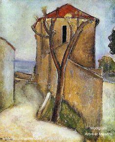 Modigliani: 'Arbre et Maisons'