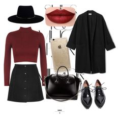 #sexy #red #dulceida #style #party #casual #perfect #winter #cold #comfy by clodfever on Polyvore featuring polyvore fashion style WearAll Jeffrey Campbell Givenchy Rifle Paper Co Zimmermann Rika