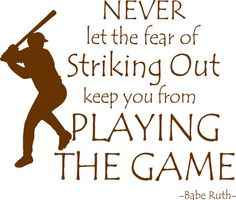 Baseball Quote Babe Ruth Playing The Game Vinyl by landbgraphics, $25.00