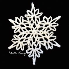 Belle Tracy plans to crochet 365 snowflakes in 2015. Here's the first with the link to the pattern!