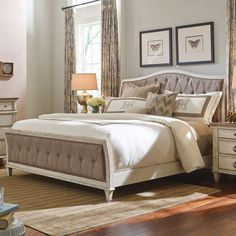 ... Queen Upholstered Bed in Cream | American Drew | Home Gallery Stores