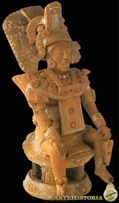 Figura de señor principal. Cultura Maya (Jaina, México) 600-900 AD  Campeche-Mexico