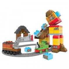 The Thomas & Friends Junior Builders Percy's Brave Tale construction set comes with 81 pieces.