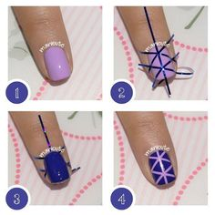 Nail art geométrico paso a paso, ¡una idea fabulosa!