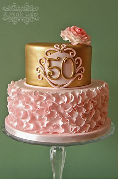 50th Wedding Anniversary by K Noelle Cakes