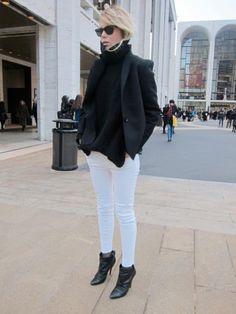 black + white (j brand)