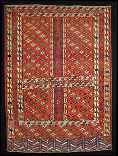 Mohammad Tehrani Yomut Rug 180 x 130 cm 19th Century