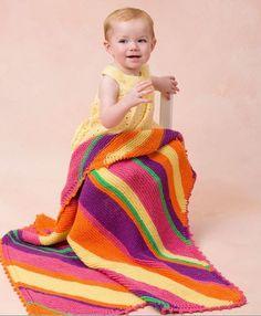 Bright Stripes Baby Blanket