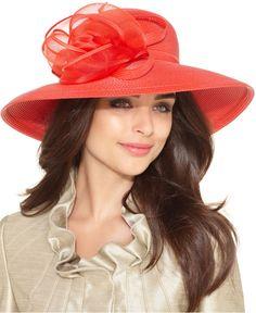 August Hat, Grecia Down Brim Church Hat - Hats, Headbands, & Wraps - Handbags & Accessories - Macy's