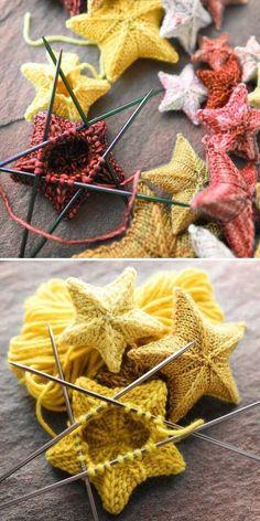 Knit Stars - Free Pattern - Knit Stars – Free Pattern Amigurumi Little Frog Free Pattern Start with green yarn. Knitting Patterns Free, Free Knitting, Baby Knitting, Free Pattern, Crochet Patterns, Simple Pattern, Knitting Yarn, Yarn Projects, Knitting Projects