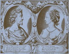 Ronsard and Cassandra Salviati  - from engraving by Cl. Mellan (1598 - 1688). F: French poet, 1524 - 1585. Portrait of two lovers.  (Photo by Culture Club/Getty Images) *** Local Caption ***