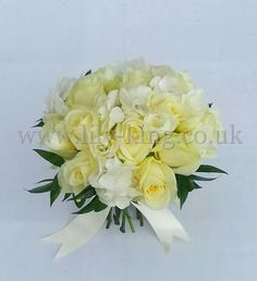 White Rose Brides Bouquet, by Lily King Weddings