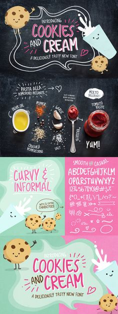 14 Beautifully Creative, Hand Crafted Fonts After our last font bundles were such huge hits, we set to work to bring you guys something even bigger Typography Fonts, Graphic Design Typography, Lettering Design, Hand Lettering, Typography Inspiration, Graphic Design Inspiration, Menu Design, Book Design, Ice Cream Design