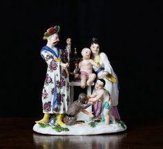 Meissen Model of a Chinese Family with Monkey, c. 1745 : The British Antique Dealers' Association