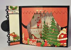 Graphic 45 Twas the Night Before Christmas envelope pop up 3D scene card by Anne Rostad