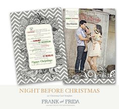 Night Before Christmas -  Holiday Card, F&F, $11 change story to newsletter?