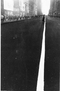 Robert Frank - Pedestrian Crossing Center White Line on 34th Street, NY, 1948. [From The Metropolitan Museum of Art