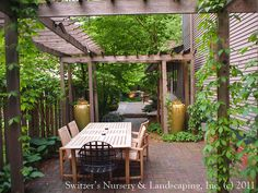 Back yard pergola | ... Patio / Custom Cedar Pergola / Low-Voltage Landscape Night Lighting