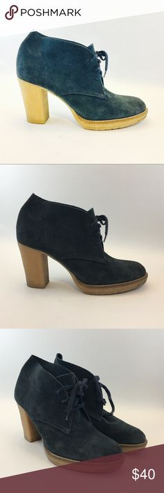 J. Crew suede boots Navy suede gum rubber heeled boot. Color better reflected in pics following the main cover shot. Size 10. Some normal scuffs on the back and sides.     **Tan version available in my closet too J. Crew Shoes Heeled Boots