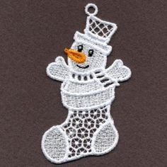 FSL White Christmas embroidery design