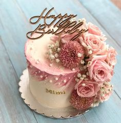 Flower butter cream cake Blume Buttercremekuchen - 0 Source by Beautiful Birthday Cakes, Birthday Cake With Flowers, Beautiful Cakes, 40th Birthday Cakes, Birthday Cakes For Women, Birthday Cake For Mom, Birthday Ideas, Bolo Glamour, Glamour Cake