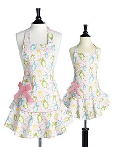 Jessie Steele Easter aprons for Mom and Daughter