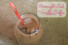 Overnight Iced Vanilla Coffee. No muss, no fuss, simple recipe for hot summer mornings when you don't want hot coffee. #IcedCoffee