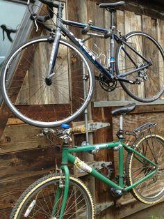 industrial iron pipe dual 39 bike rack 39 fuji 39 dd pipe. Black Bedroom Furniture Sets. Home Design Ideas