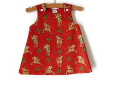 Christmas A-line dress for babies and girls by NaturalKidsClothing