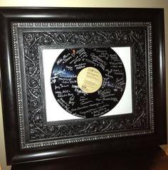 Wedding Guestbook: Signature LP Vinyl Record Framed