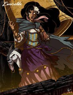 Esmeralda - The Hunchback of Notre Dame  Jeffrey Thomas (http://jeftoon01.deviantart.com/) - Twisted Disney Series