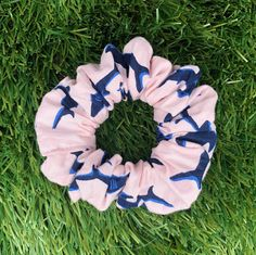 Pink scrunchie with Sharks💗💙 available in my Etsy Shop now! ✨Link in bio Diy Wand, Sharks, Pink Hair, Scrunchies, Hair Band, Wands, Shop Now, Cool Outfits, My Etsy Shop