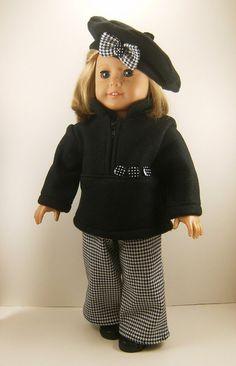 Fits American Girl 18 Inch Dolls  Zip Top Pants by dressurdolly2, $22.00