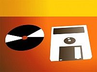 Illustration Of A Floppy And Compact Disc