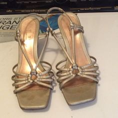 Golden tan Sandel size 10 As is - Bundle up and save Shoes Sandals