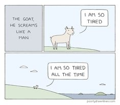 """""""The Goat"""" Print · Poorly Drawn Lines · Online Store Powered by Storenvy"""