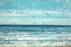 FREE SHIP large abstract painting seascape di SageMountainStudio