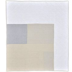 Irish Linen Contemporary Patchwork Modernist Queen Quilt | From a unique collection of antique and modern quilts at https://www.1stdibs.com/furniture/folk-art/quilts/ by Irish designer Katie Larmour